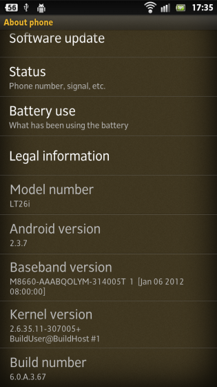 Xperia S 6.0.A.3.67