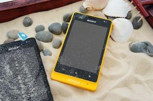 Xperia go Yellow sand